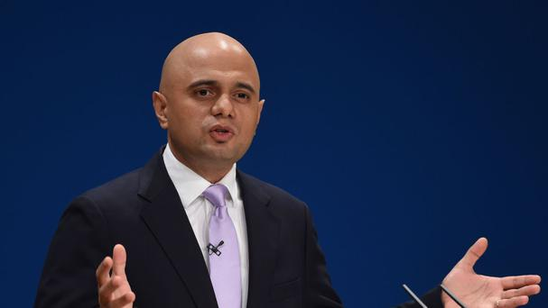 Mr Javid insisted three quarters of English businesses will see their rates fall or stay the same