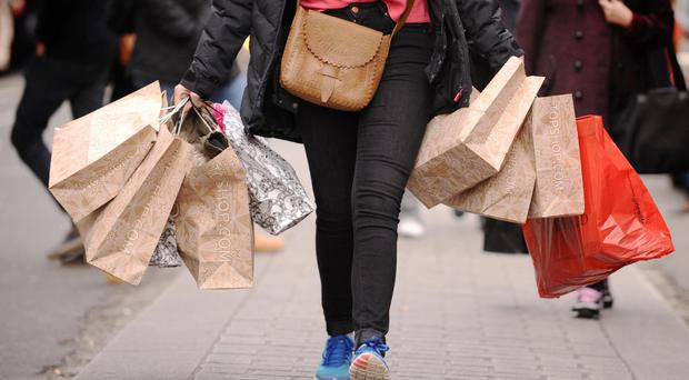 A rebound in retail sales has cooled predictions of a slump in consumer demand at the start of the year, figures suggest