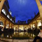 The Roman baths in Bath is one of Somerset's tourist attractions