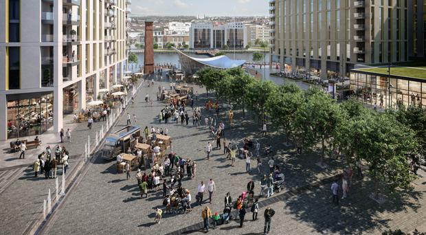 An artist's impression of a rejuvenated Sirocco Quays