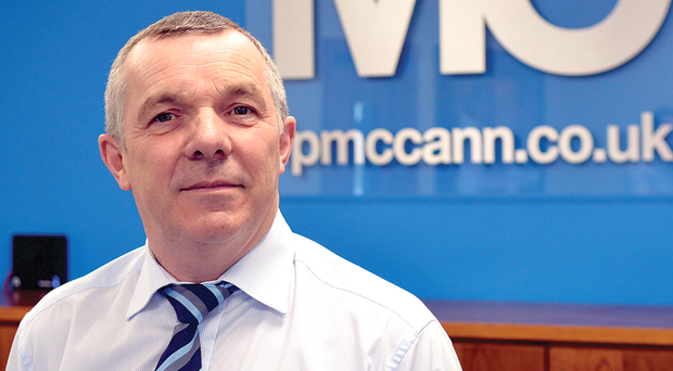 Eoin McCann, managing director of FP McCann in Magherafelt.