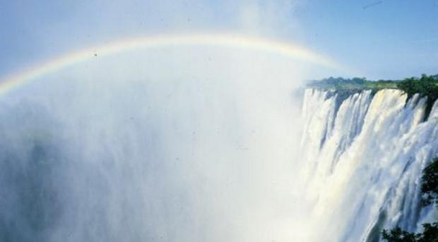 Victoria Falls in Zambia where Jackie and her family enjoyed a holiday