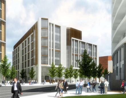 An artist's impression of the office development set for Belfast's Titanic Quarter