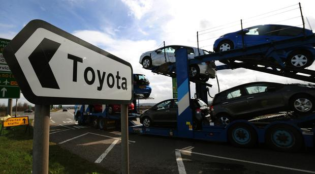 Toyota is investing £240 million in its factory at Burnaston in Derbyshire