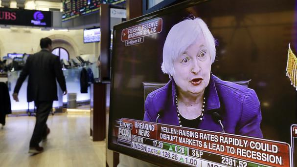 A rally fuelled by the Federal Reserve's announcement on interest rates has faded (AP)