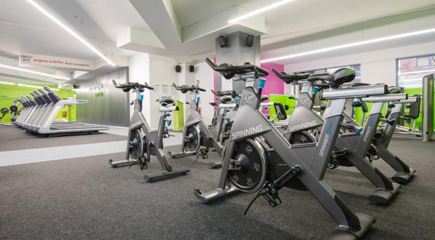 The inside of a Fit4less gym