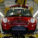 The production line for the Mini at the BMW plant in Cowley, where workers are among those being balloted
