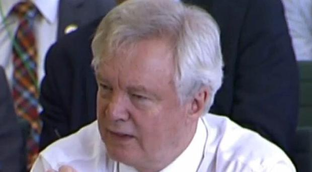 David Davis is appearing before the Lords EU Committee