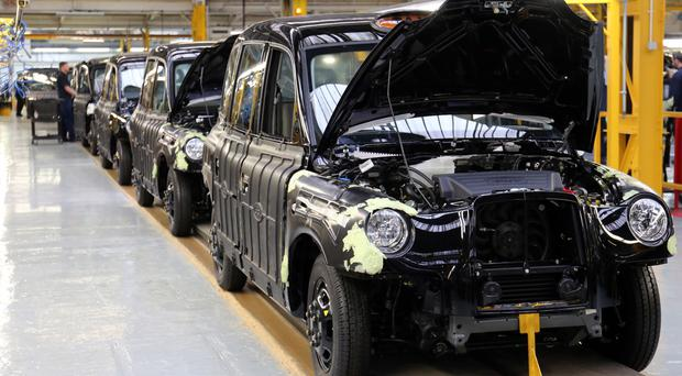 The production line at the London Taxi Company in Coventry