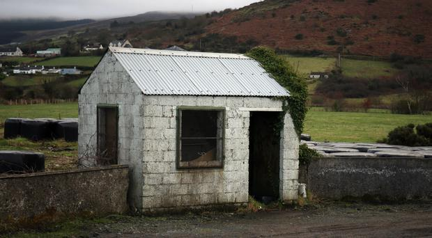 A former customs post on the Irish border