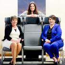 From left: Bradfor MD Patricia Clements with Kelly Murphy of Invest NI and Joanne Liddle, MD of IPC Mouldings