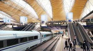 An artist's impression of the proposed HS2 station at Euston (HS2/PA)