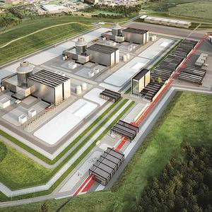 Artist's impression of how the new power station scheme in Moorside, Cumbria, may look (NuGeneration/PA)