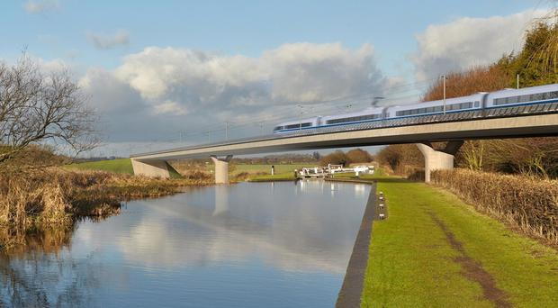Undated handout file image issued by HS2