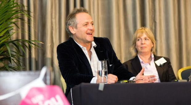 James Averdieck of Gu puddings was a special guest at the food conference in Bangor last week