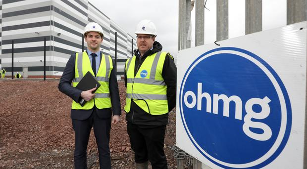 Dave Martin, EE Corporate Account Manager at BT Business in Northern Ireland with Cathal O'Hare, Director at O'Hare & McGovern