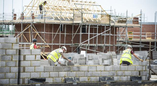 A drop-off in housebuilding was the main drag on the sector, according to the report