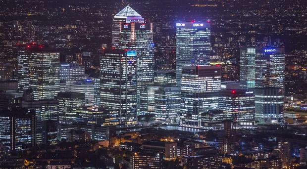 A view of Canary Wharf, London
