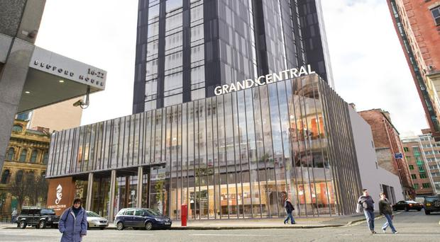 How the proposed Grand Central Hotel in Belfast city centre will look