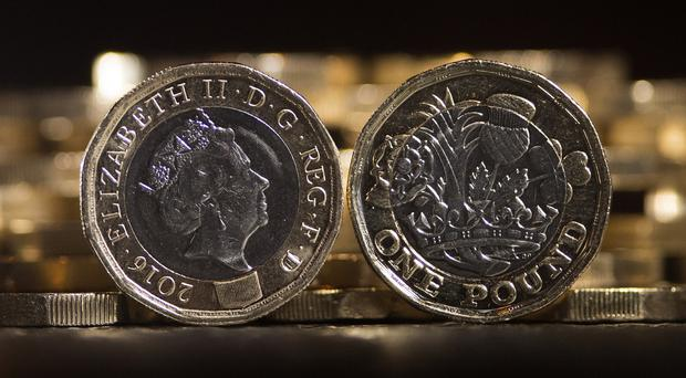 Sterling rose after good news in the services sector