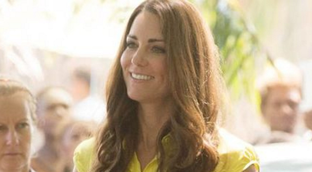The Duchess of Cambridge wearing a Jaeger dress