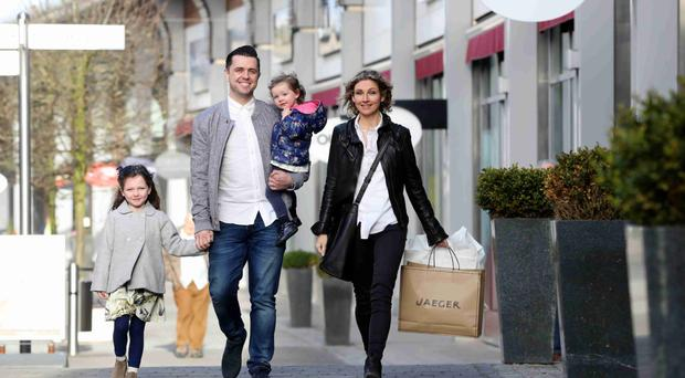 From left: Ivana, Pete, Elayna and Julia Snodden launch The Outlet's Mother's Day promotion