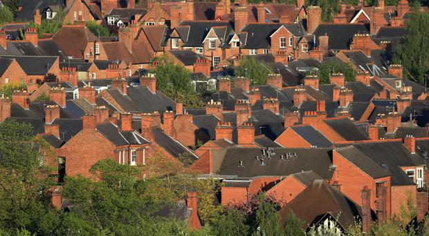 'Property values increased by 5.8% year-on-year to reach a record of £218,000 typically across the UK' (stock photo)