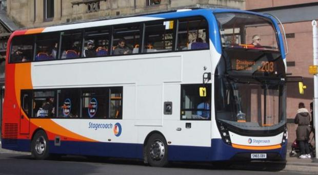 A Stagecoach bus similar to the ones which will be built by Wrightbus