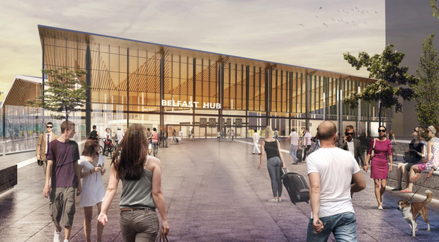 An artist's impression of what the Belfast Transport Hub could look like
