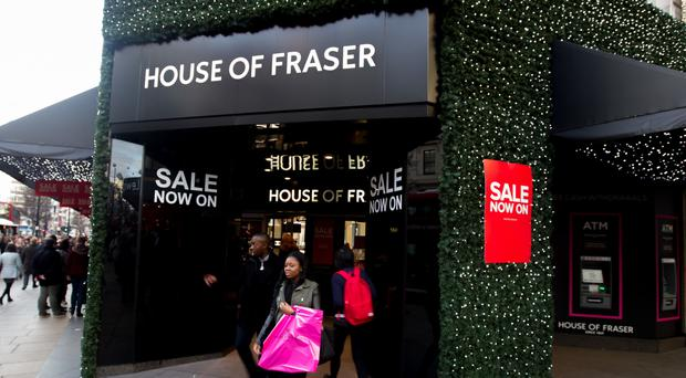 House Of Fraser's store on Oxford Street