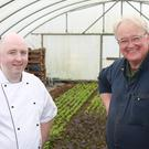 Rob Curley and Frank McCooke of the Slemish Market Supper Club kitchen