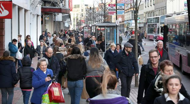 The march of online giant Amazon is adversely affecting high street shopping in cities such as Belfast