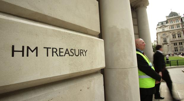 The ONS said public sector net borrowing, excluding banks, dropped by £20 billion to £52 billion