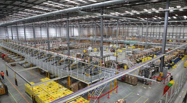 The Amazon distribution centre in Hemel Hempstead, as the online retailer is set to open more warehouses