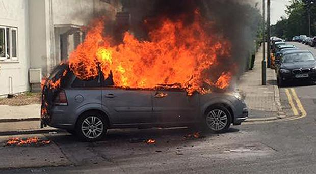 A Vauxhall Zafira which apparently burst into flames last summer (Handout/PA)