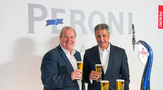 Managing Director of Asahi UK Gary Haigh (left) says Brexit could be bad news for his company