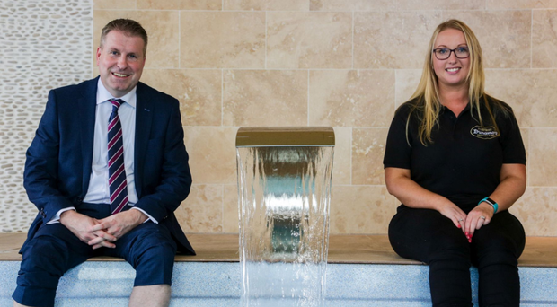 Robert Lynn, small business adviser at Danske Bank, and Stacey Hamill, owner of Dunamoy Cottages & Spa