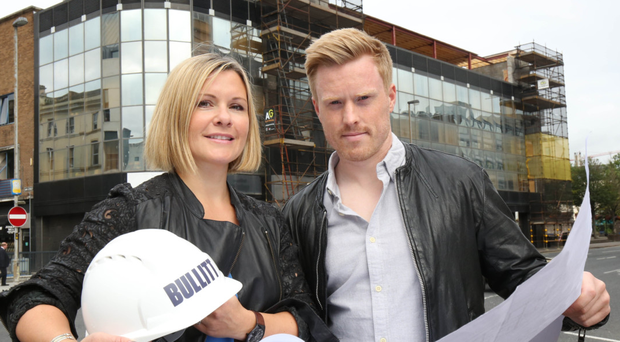 Petra Wolsey and Conall Wolsey at the launch of Belfast's Bullitt Hotel