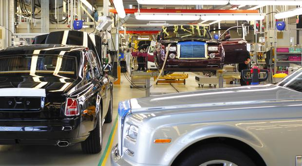 Workers at the Rolls-Royce factory are staging strike action.