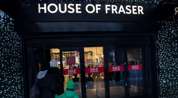 House of Fraser last month chalked up a rise in full-year profits, but warned trading remains volatile