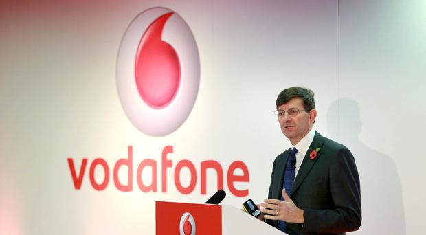 Vittorio Colao, group chief executive of Vodafone, cheered the group's