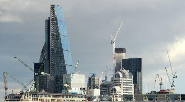 The amount of office space under construction in London fell by 6 per cent in the past six months, according to a new survey