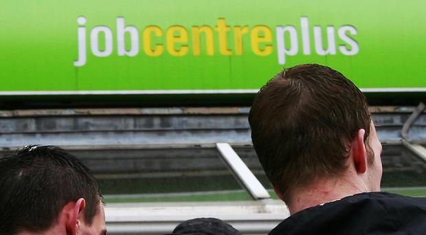 The jobless total fell by 53,000 to 1.54 million in the quarter to March