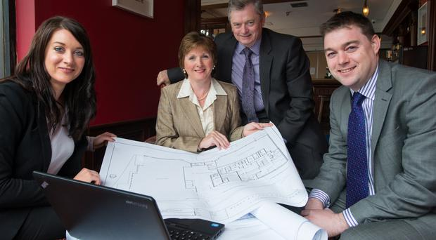 From left, McKeever Hotel sales and marketing director Bridgene McKeever with company founders Catherine and Eugene and operations director Eddie, who will take part in the survey