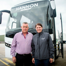 Aobh Hannon, of Hannon Transport, with daughter Victoria. Photos: Kevin Scott