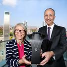 Broadcaster Wendy Austin joined IoD Northern Ireland chairman Ian Sheppard of Bank of Ireland to launch its gala ball, which takes place on June 1