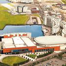 The Hamilton Dock hotel development site is one acre of land opposite the Titanic Belfast tourist attraction