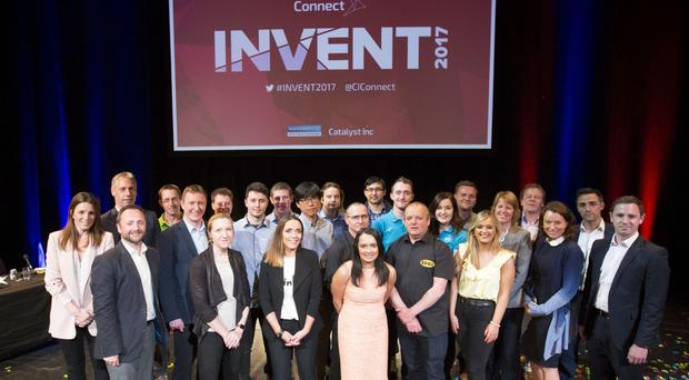 The 12 finalists with the judges and sponsor Bank of Ireland UK