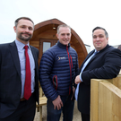 Colin Mayrs of Blair's Holiday Park (centre) with Mark Sproule (left) and Aaron Ennis from Danske Bank