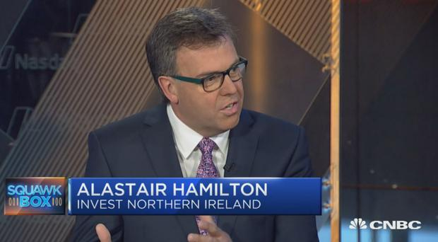 Invest NI's Alastair Hamilton on CNBC's Squawk Box programme